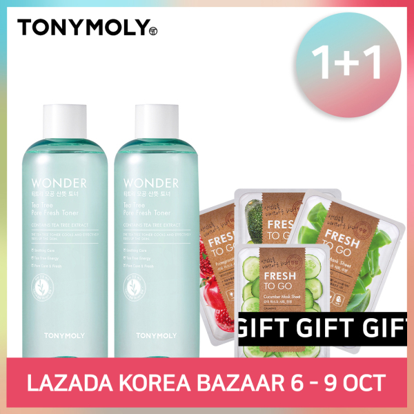 Buy [TONYMOLY] WONDER TEA TREE PORE FRESH TONER 1+1 Singapore