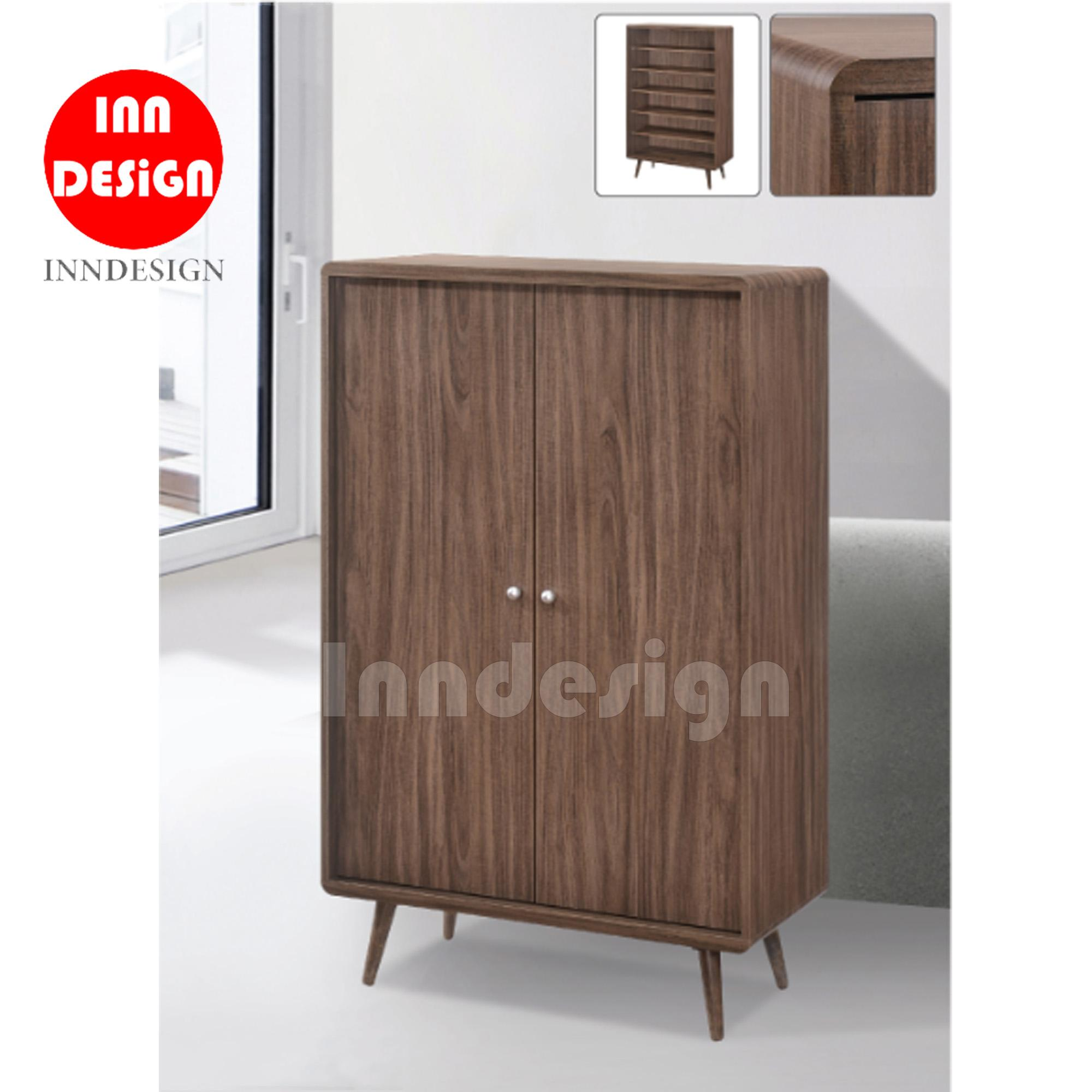 Miggy 2 Doors Shoe Cabinet with Solid Wood