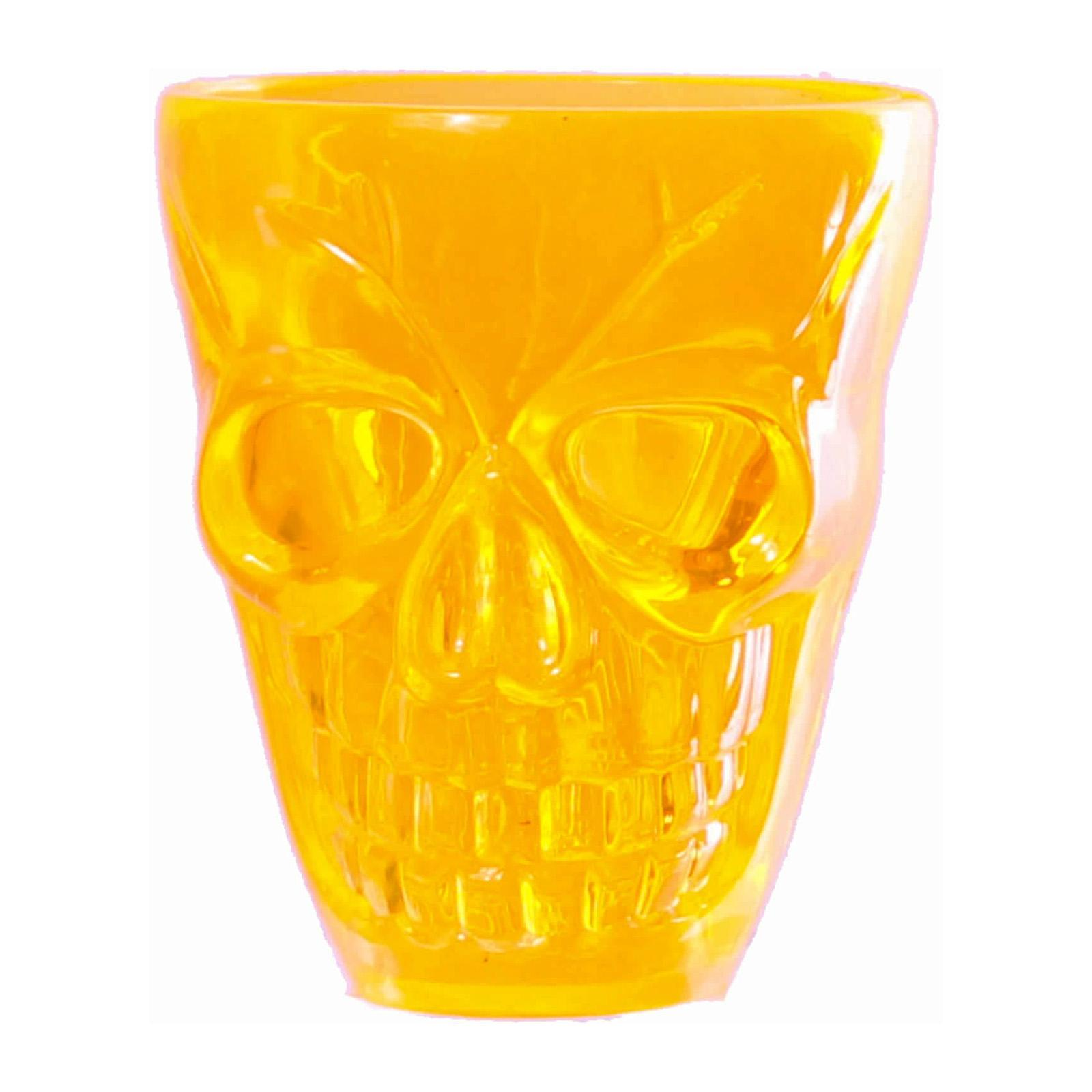 Partyforte Halloween Moulded Whiskey Shot Glasses - Skull