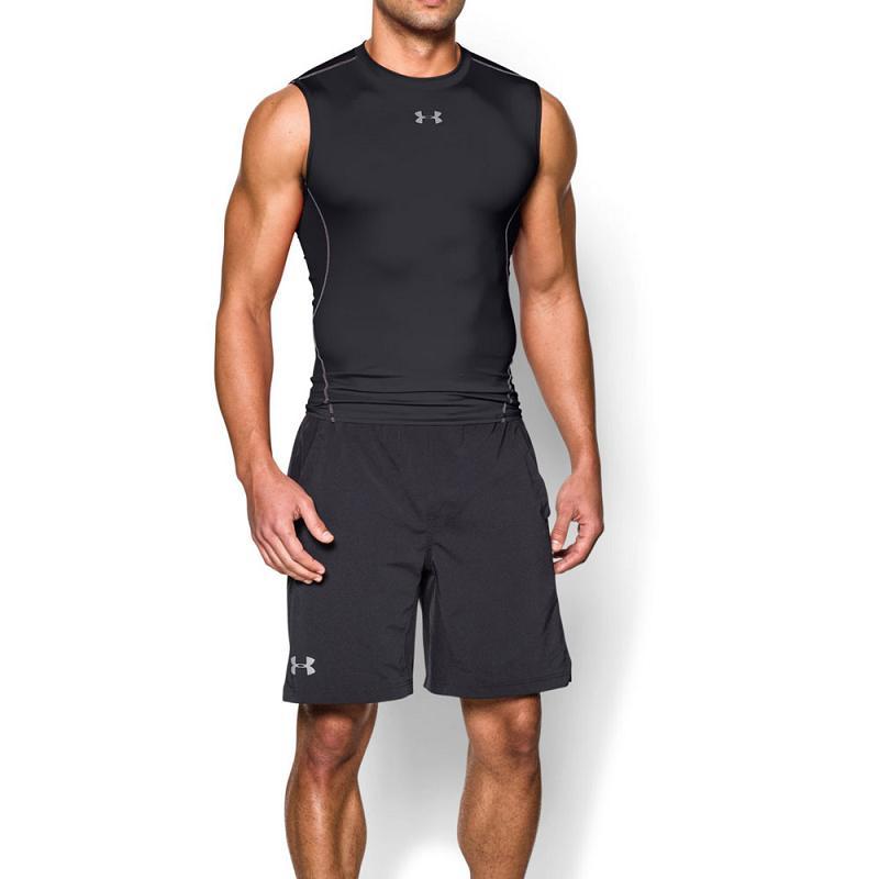 Ua Heatgear Compression - Men Singlet (black) 1257469-001 By Sports-Zone.