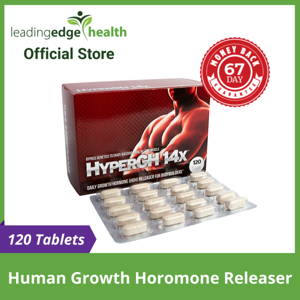 Buy HyperGH 14X™ [120 Tablets\1Month] - Daily Human Growth Hormone Releaser for Body Building | Increase Muscle Mass Gain Rate & Recovery, Energy Booster | 100% Authentic USA Product Direct from Manufacturer Singapore