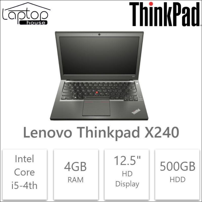 Lenovo Laptop Thinkpad X240 Laptop (Core i5-4th Gen/ 500GB HDD/ 4GB RAM) (Refurbished)