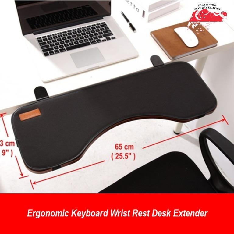 Ergonomic Keyboard Wrist Rest Desk Extender For Added Typing Comfort