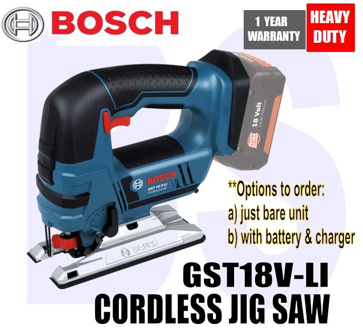 BANSOON BOSCH CORDLESS JIGSAW GST 18V-LI (option to purchase just bare unit or with battery/charger)