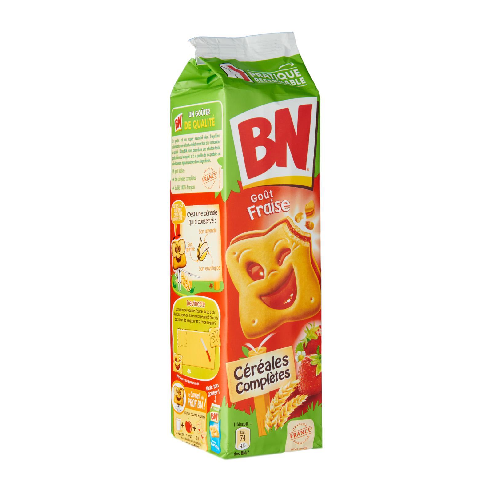 BN Strawberry Flavour Sandwich Biscuits