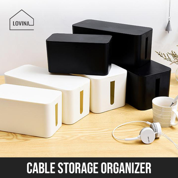 Cable Organiser Box Cable Management Organizer Box White or Black