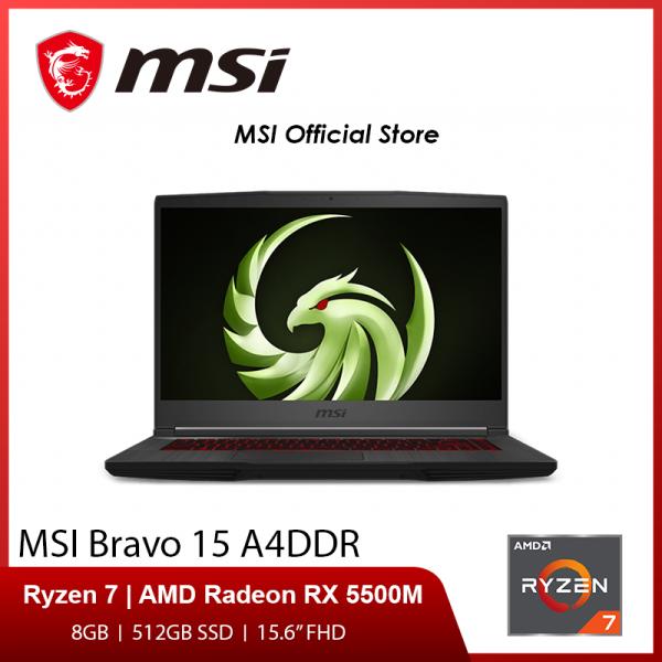 MSI Bravo 15 A4DDR-063SG (AMD Ryzen7 4800H  , AMD Radeon RX 5500M  4GB GDDR6 , 8GB DDR4 , 512GB SSD) 15.6 FHD (2Y)