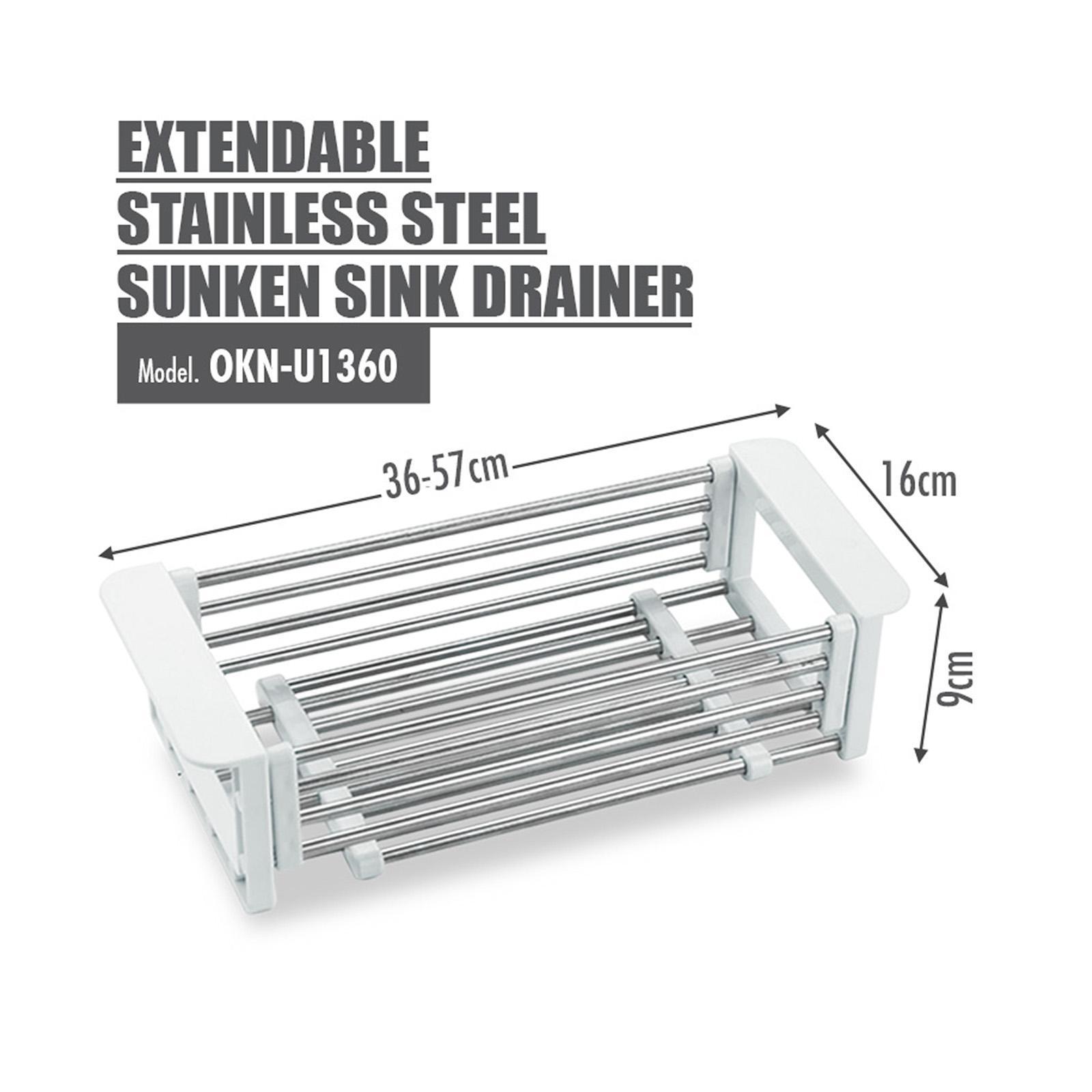 HOUZE Extendable Stainless Steel Sunken Sink Drainer