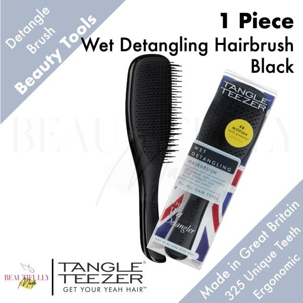 Buy Tangle Teezer Wet Detangling Hairbrush Black - Detangler Untangle Every Strand of Hair Quickly & Gently Singapore