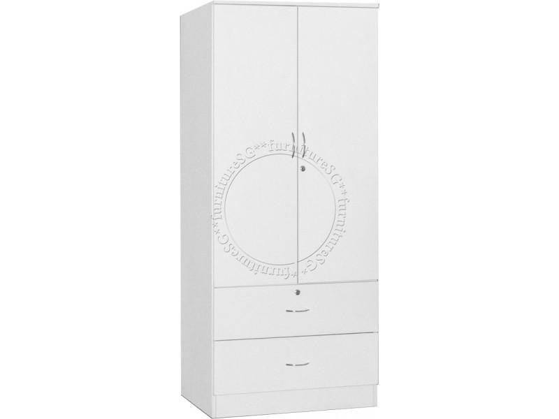 (FurnitureSG) 2 Door Wardrobe (Free Delivery and Installation)