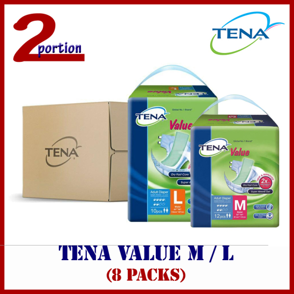 Buy [FREE DELIVERY] [CARTON SALE] TENA Value Adult Diapers (8 packs) Singapore