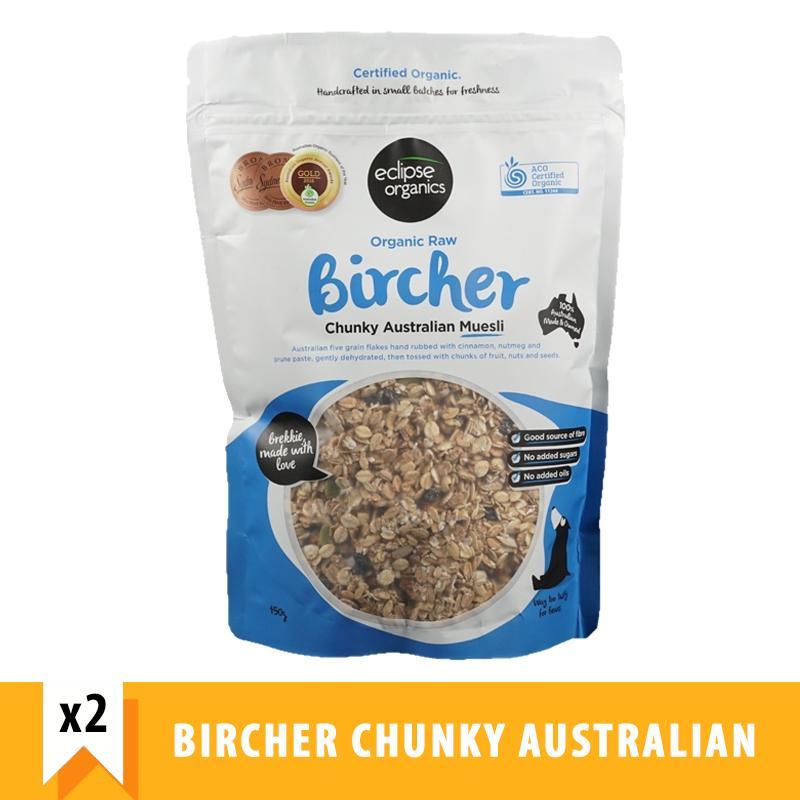 Eclipse Organics Raw Bircher Chunky Australian Muesli (450g X 2) By Forever Young Sg.