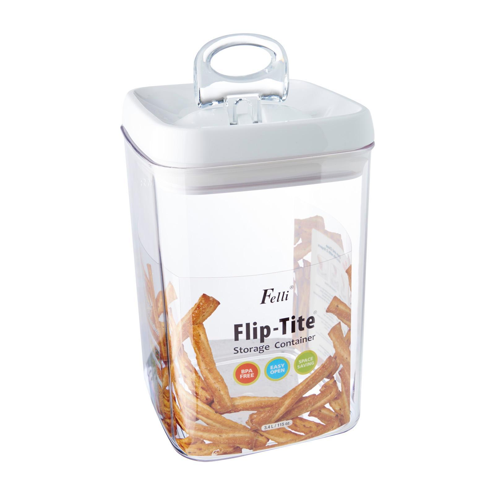 Felli Square Flip Tite Storage Container 3.4 L