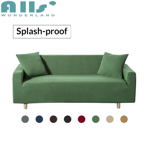 Splash-proof SOFA COVER 1 2 3 4 Seater Partial Waterproof Dustproof Slipcover Single Double  Sofa Cover Solid Color
