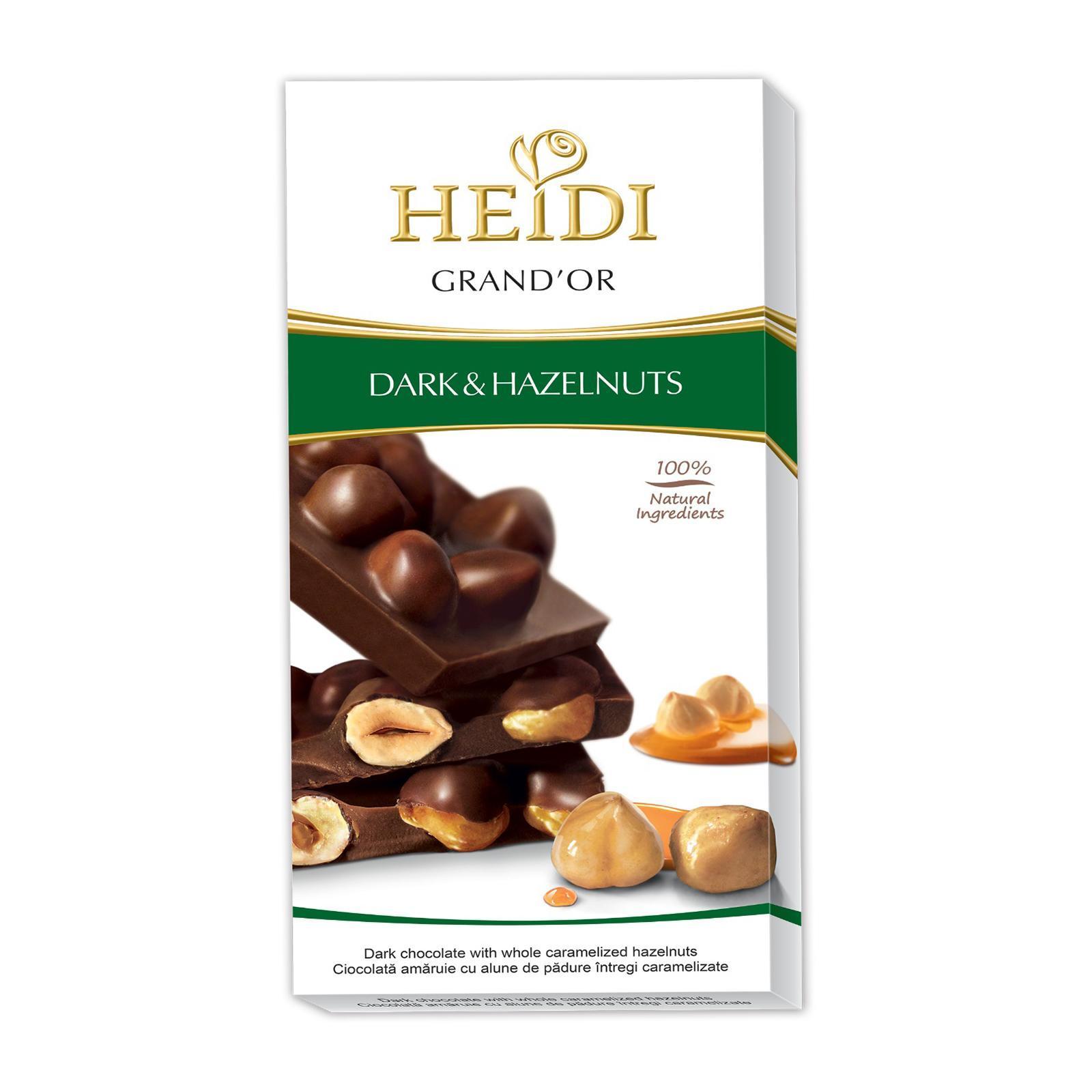 Heidi Grand 'Or Dark Chocolate With Whole Caramelized Hazelnuts