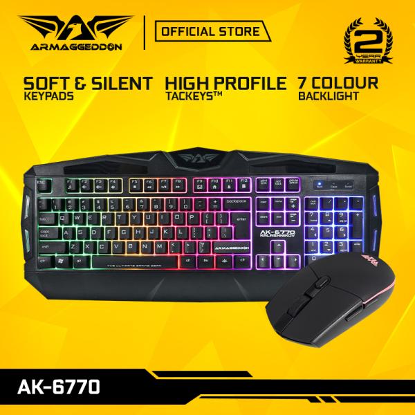Armaggeddon AK6770 Kalashnikov Gaming Membrane Keyboard And Gaming Mouse Combo | Low-Profile Keyboard