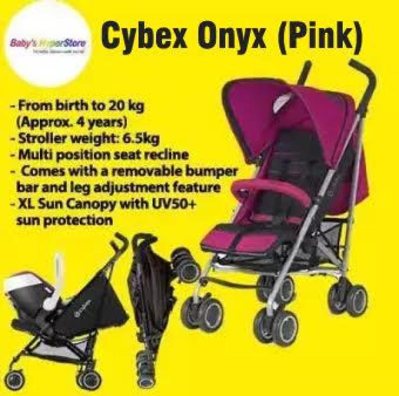 Cybex Onyx (Pink) Stroller FREE bumper bar- Local seller warranty 3 months Singapore