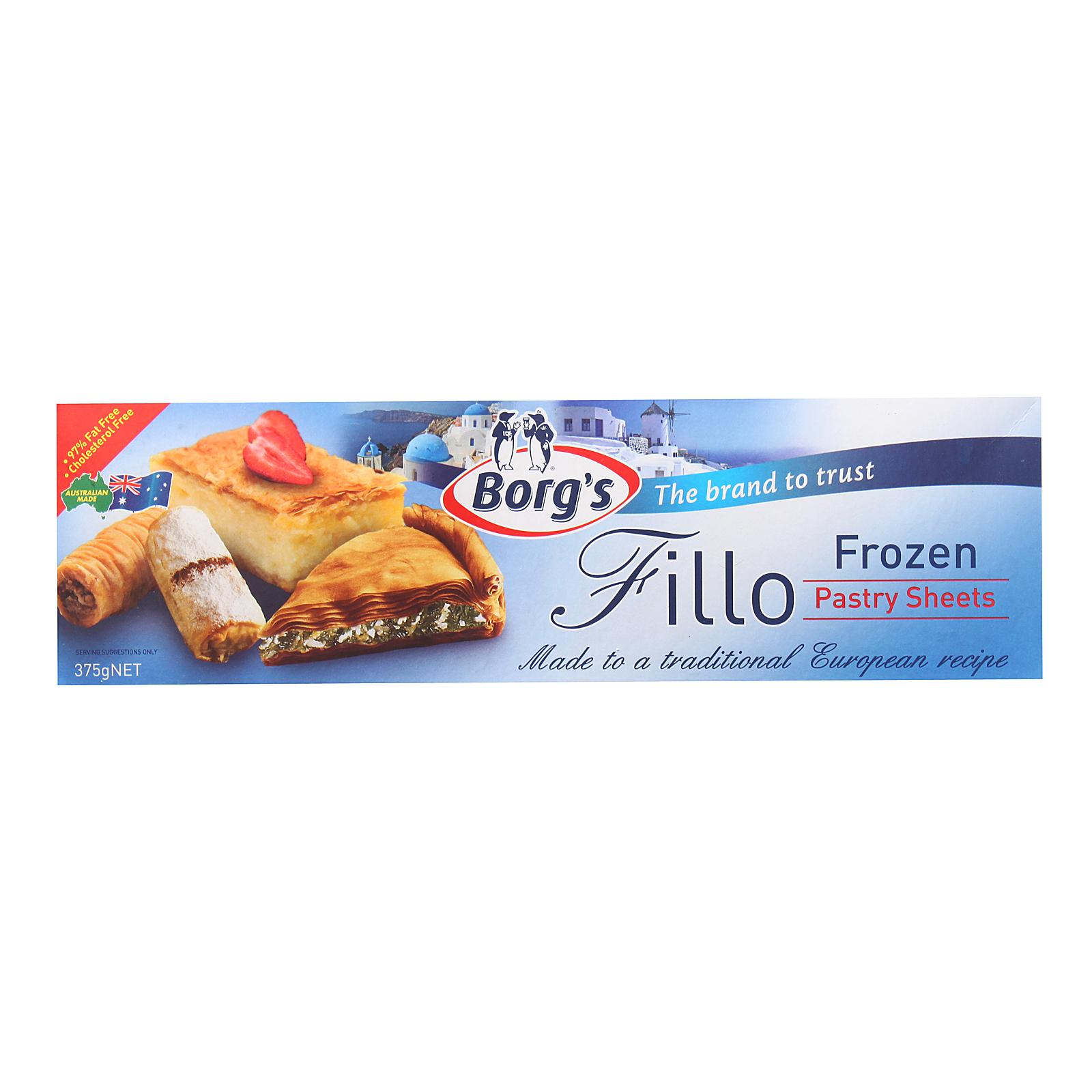Borgs Fillo Pastry - Frozen By Redmart.
