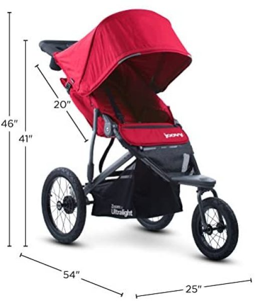 Joovy Zoom 360 Ultralight Newborn Baby to Child Children Kids Jogging Running Sports Active Sports Jogging Stroller Jogger Pram Baby Trolley Pushchair 3 Three Wheel Stroller Red Singapore