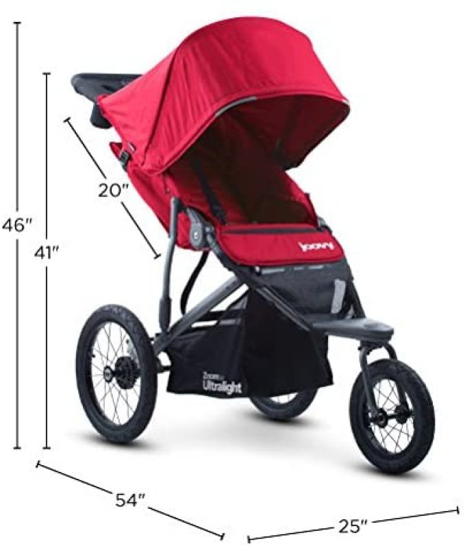 Joovy Zoom 360 Ultralight Newborn Baby to Child Children Kids Jogging Running Sports Active Sports Jogging Stroller Jogger Pram Baby Trolley Pushchair 3 Three Wheel Stroller Red Singapore