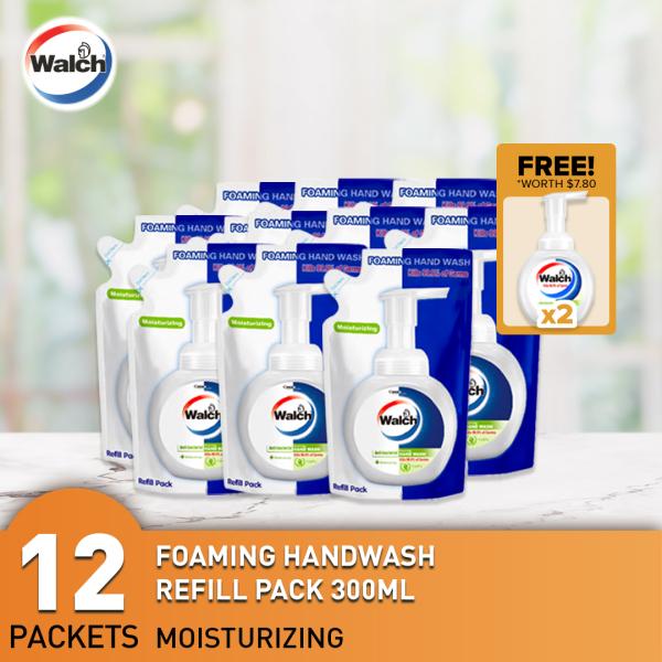Buy Walch Antibacterial Foaming Handwash 300ml x 12 Refills + FREE 2 bottles Singapore