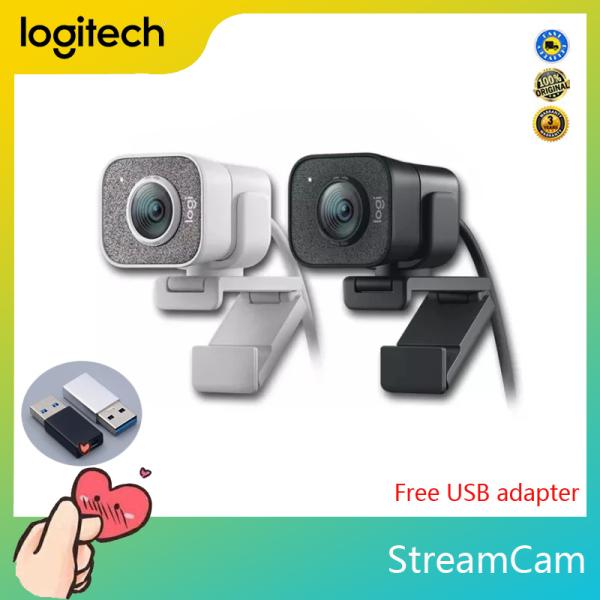 Logitech StreamCam Original Full HD 1080P 60fps Webcam, Built-in Microphone for Desktop and Home Computer