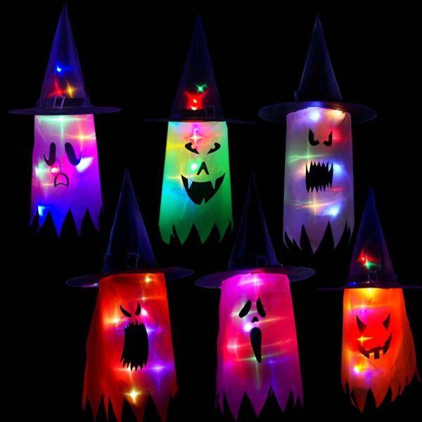 Bảng giá BAOTUQ, Đầm Màu Sắc Ngoài Trơi Cơi Mũ Ma Trang Trí Treo Đạo Phụ Cosplay Vũ Phù Thủy Đèn Sáng Trang Trí Halloween