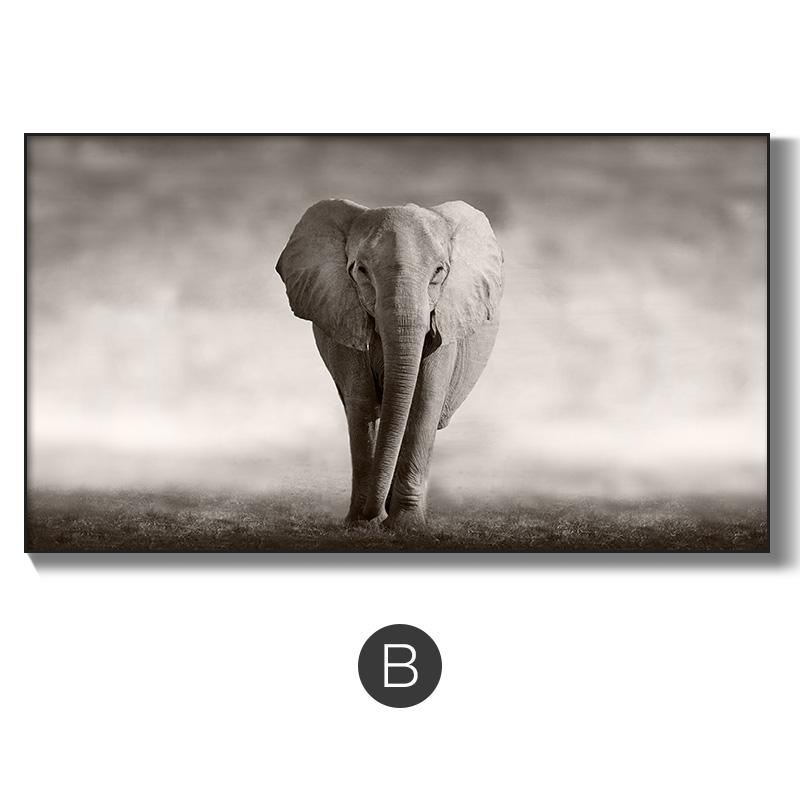 Living Room Decorative Painting Modern Minimalist Sofa Wall BLACK&WHITE Zen Art Paintings Elephant Figure Significantly Northern Europe Painting