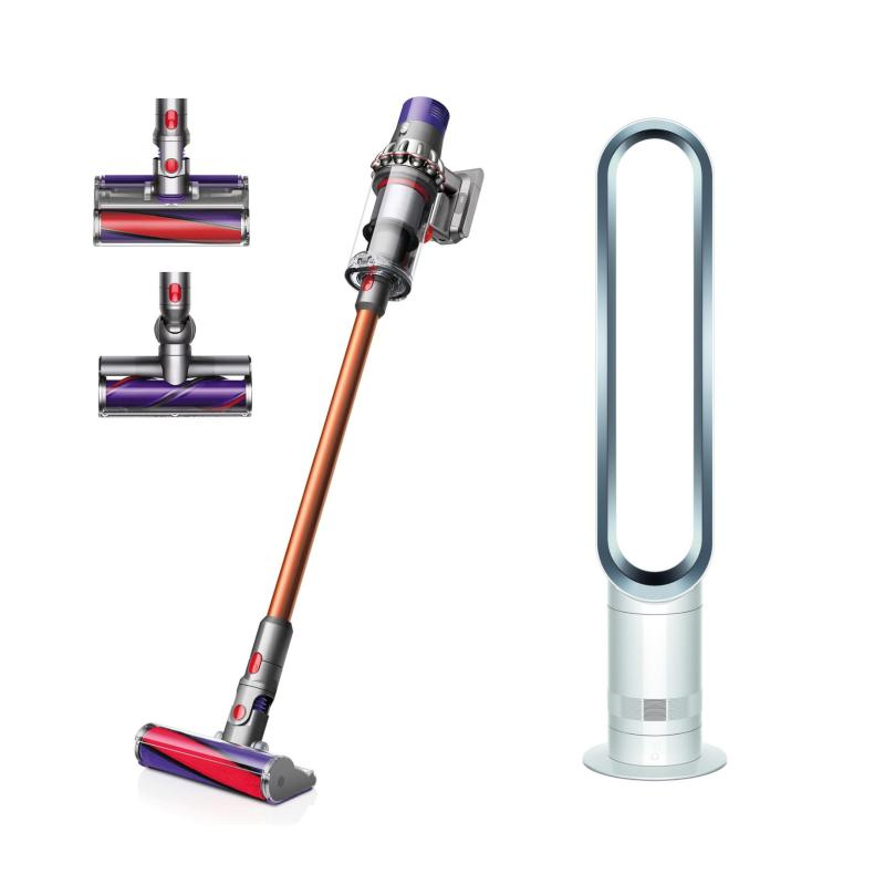 SPECIAL DEAL Dyson Cyclone V10™ Absolute+ Cordfree Vacuum Cleaner WITH Dyson AM07 Tower Fan White/Silver Singapore