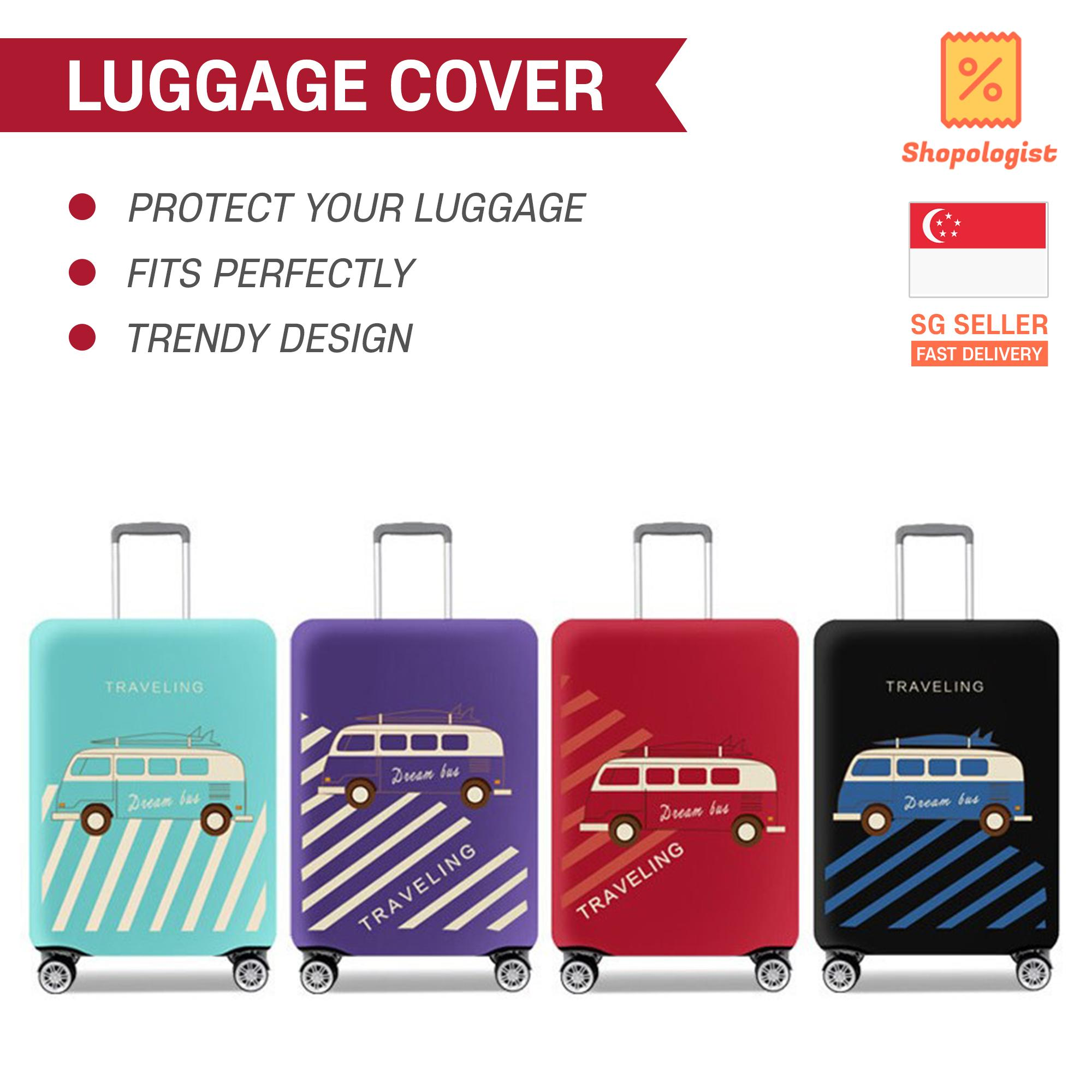 High Quality Trendy Elastic Luggage Cover Fits All Kinds of Trolley Luggage 18-20-22-24-26-28-30-32 Chic Ready Stock