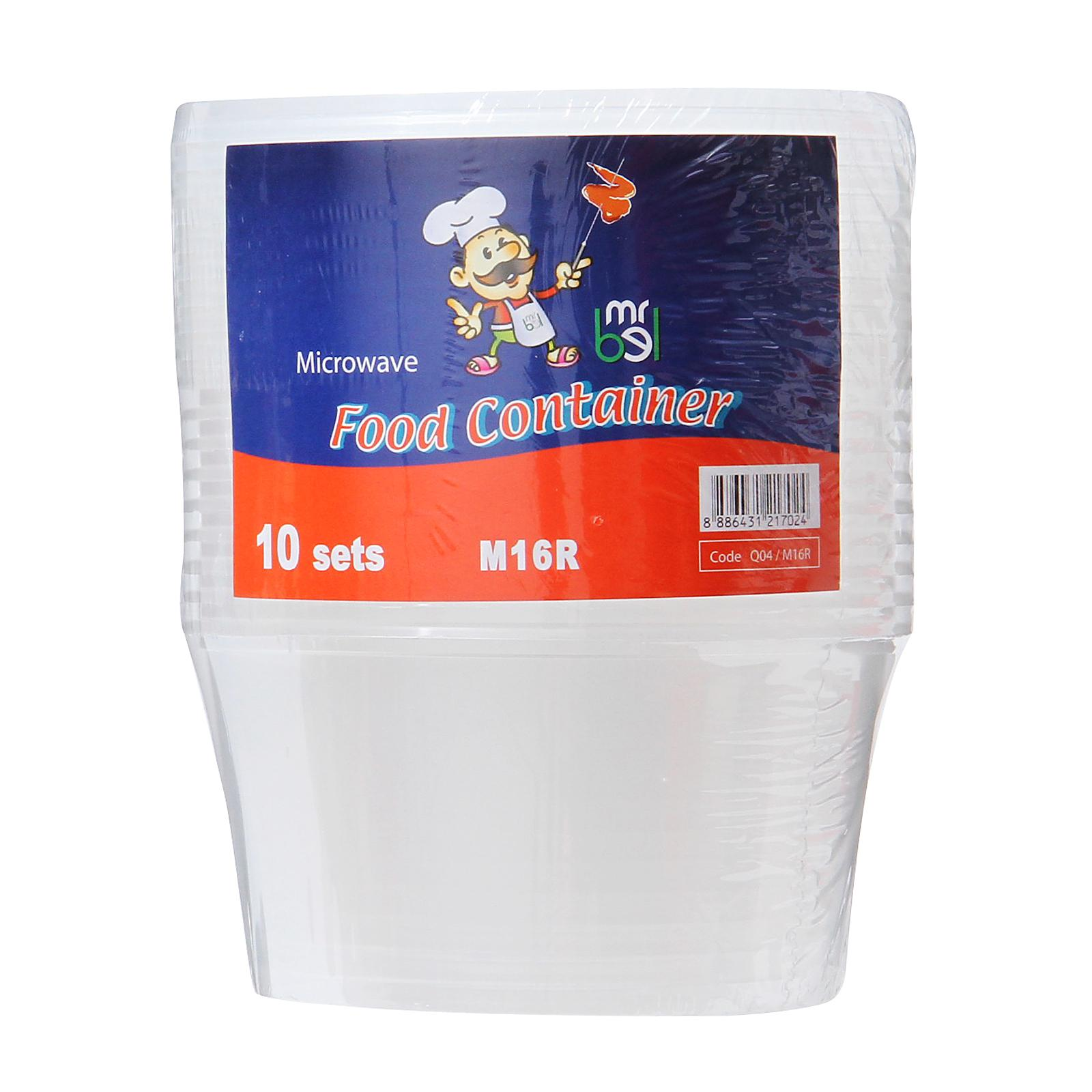 Mr Bel Disposable Round Food Containers