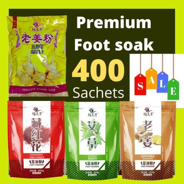 Buy (Crazy SALE - 400 Sachets) Premium Chinese Herbal Foot Soak for Detoxification, Slimming ,Destress Singapore