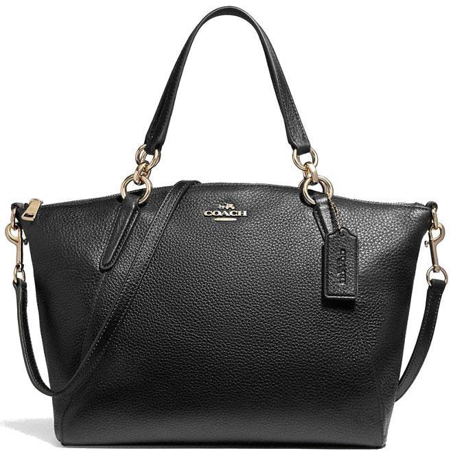 Coach Crossbody Bag Small Kelsey Satchel Handbag Black   F26917 + Gift  Receipt 03948032bf7a9