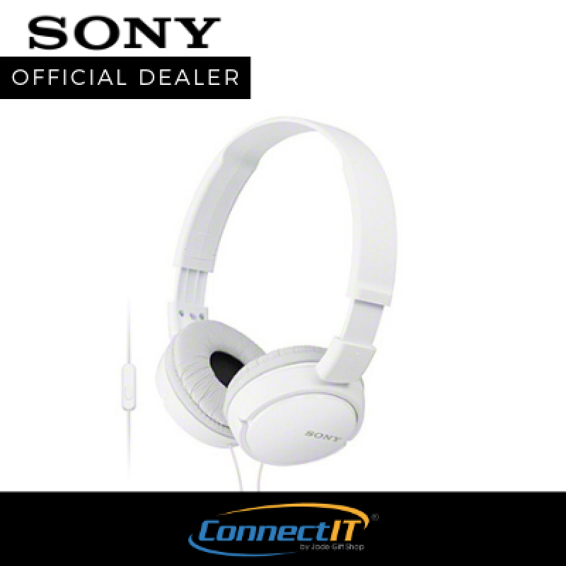 Sony MDR-ZX110AP On Ear Headphone With Mic For Smartphones With 1 Year Local Warranty Singapore