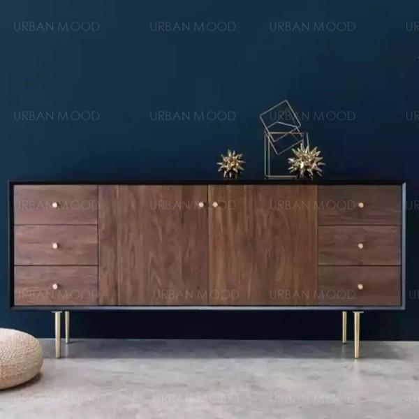 [PRE-ORDER] ELSIE Acacia Solid Wood Sideboard Cabinet