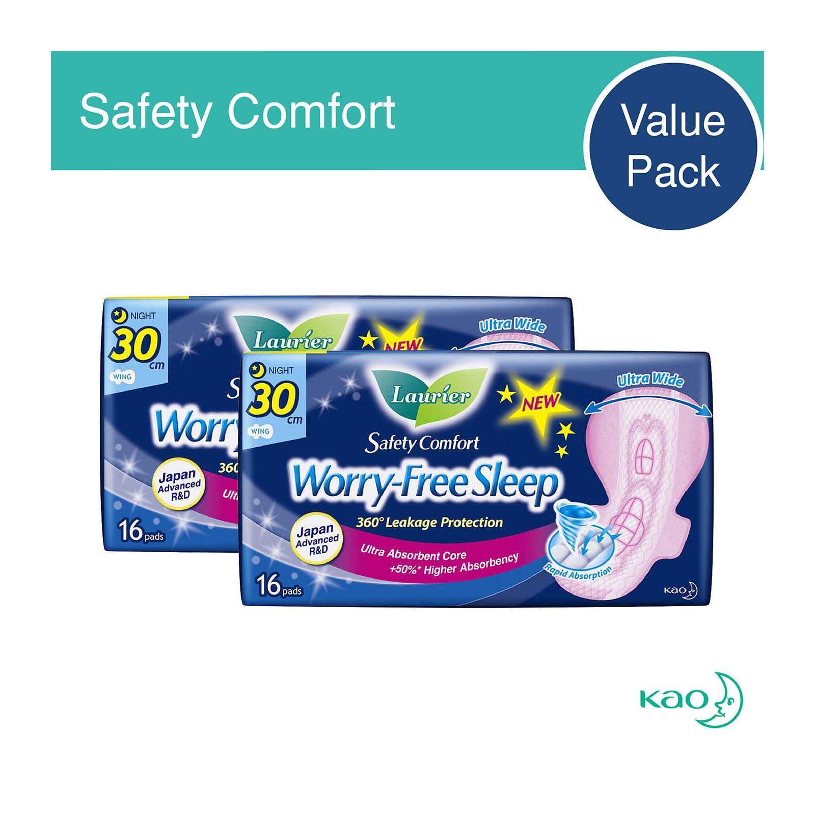 Laurier Safety Comfort Night Wing Sanitary Pads 30cm