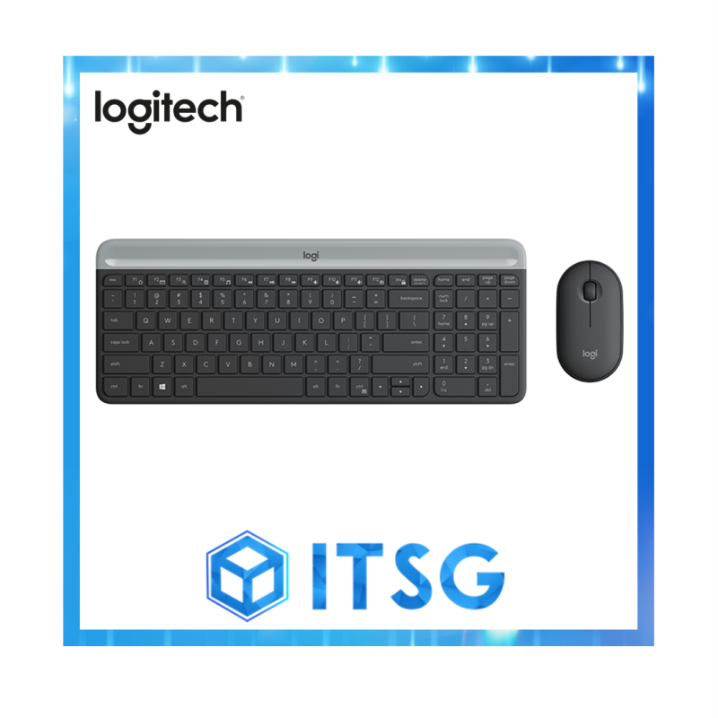 Logitech MK470 Slim, Compact and Quiet Wireless Keyboard and Mouse Combo (Local 1 Yr Warranty) Singapore