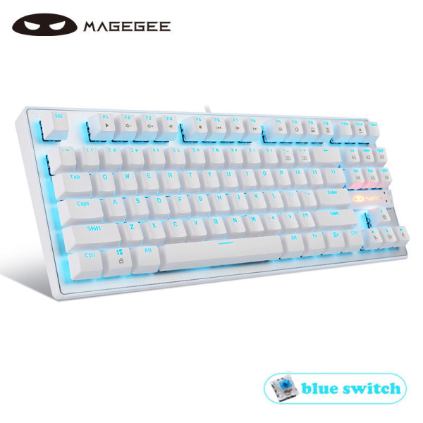 MageGee MK1 TKL Mechanical Gaming Keyboard Blue / Red Switches 87Keys LED Backlight USB Wired Keyboard for Windows Laptop PC Gamers