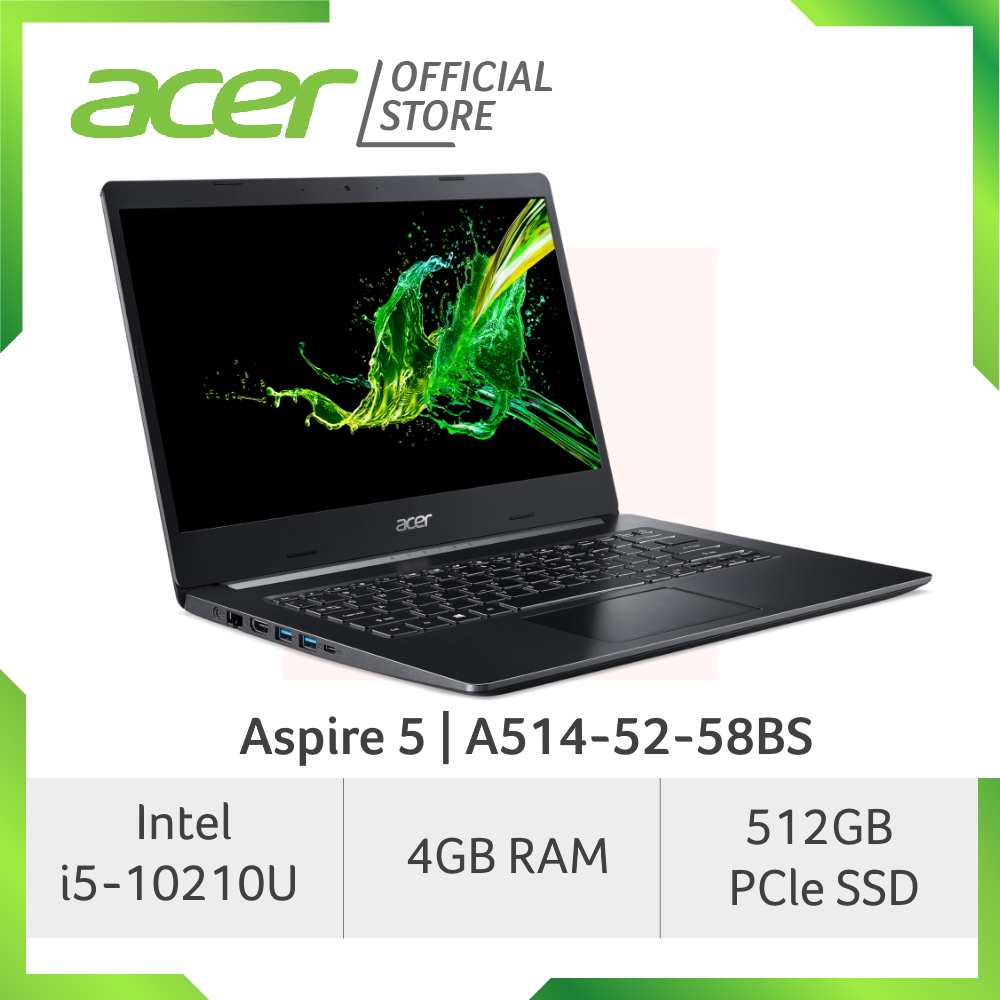 Acer Aspire 5 A514-52-58BS(Black) Laptop with 10th Gen Intel i5-10210U processor