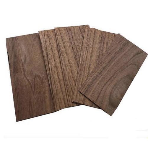20pcs/lot. 1mm*70mm*140mm Natural black walnut veneer sheet Building model crafts bookmark solid wood piece