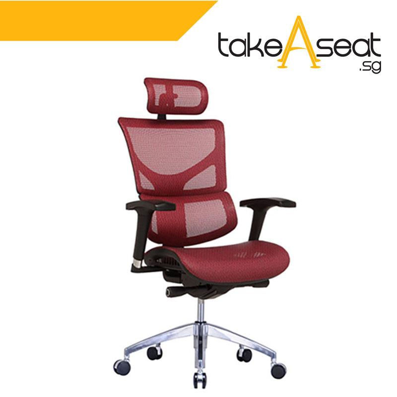 SAIL Basic Ergonomic Office Chair (Red)
