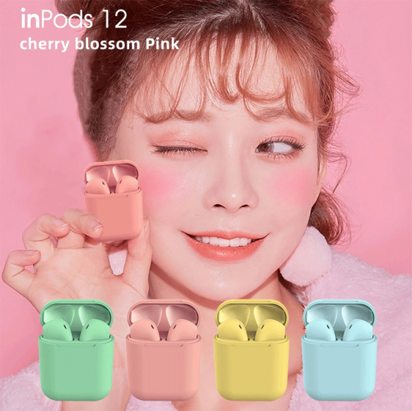 Samsung Xiaomi Apple Macaron Air pod Airpods inPods 12 i12 TWS Earbuds Wireless Bluetooth 5.0 Earbuds Headphones Sports Earbuds Headset with Mic Singapore