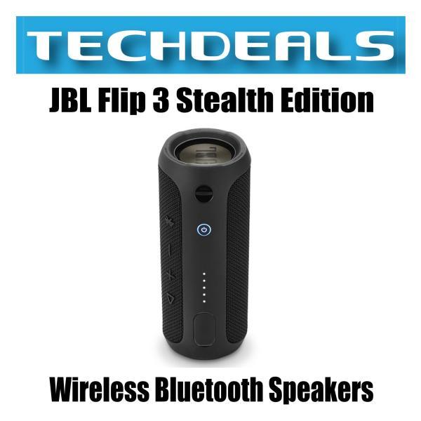 JBL Flip 3 Stealth Edition Wireless Bluetooth Speakers