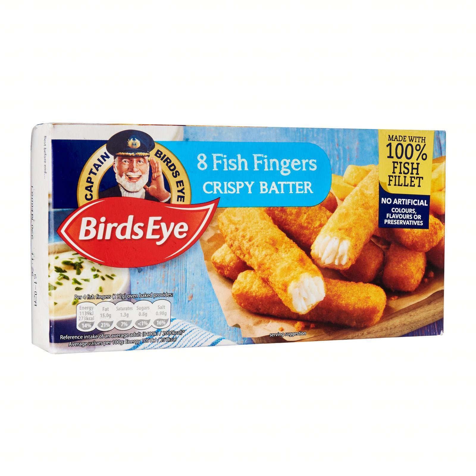 Birds Eye Crispy Battered Fish Fingers - Frozen