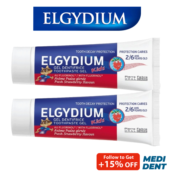 Buy ELGYDIUM KIDS TOOTHPASTE FRESH STRAWBERRY 2-6 YRS 50ML [BUNDLE OF 2] Singapore
