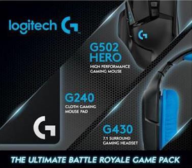 7885c63da36 Logitech Battle Royale Game Pack (G502 Hero + G240 Mouse Pad + G430 Headset)
