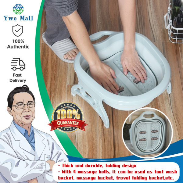 Buy Home Foldable Footbath Plain Foaming Massage Bucket Foot Bath Basin Large Heightening Fording Barrel Reduce Singapore