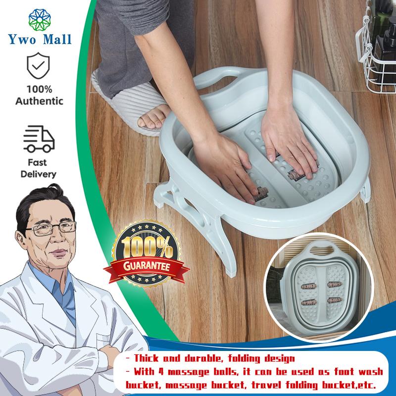 Buy Home Foldable Footbath Plain Foaming Massage Bucket Foot Bath Basin Large Heightening Fording Barrel Reduce Singapore