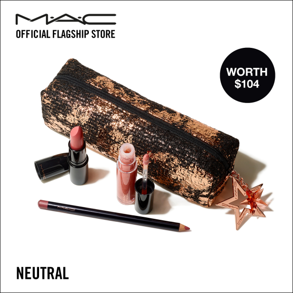 Buy [HOLIDAY SPECIAL] MAC STARRING YOU - LIPSTICK + LIP GLOSS + LIP PENCIL - STARLIT LIP MAKEUP SET (WORTH $104) Singapore
