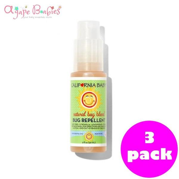 Buy California Baby Citronella Bug Repellent Spray 2oz (Travel Size) - Pack of 3 Singapore
